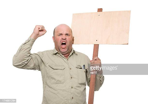 protesting worker - protestor stock pictures, royalty-free photos & images