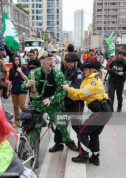 Protestor at the Toronto Marijuana March 2016