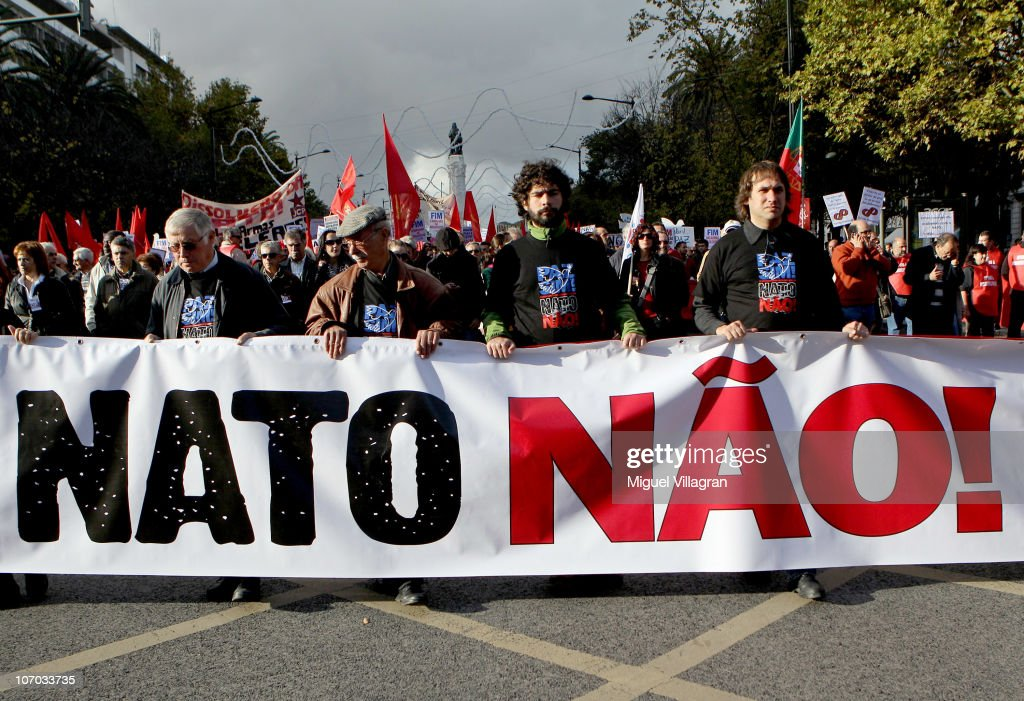 Image result for PICTURE OF NATO AND PORTUGAL BANNERS