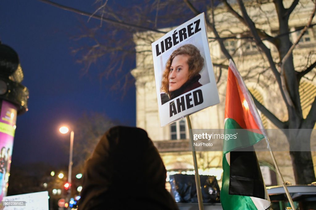 Protest in Paris in support of Ahed Tamimi