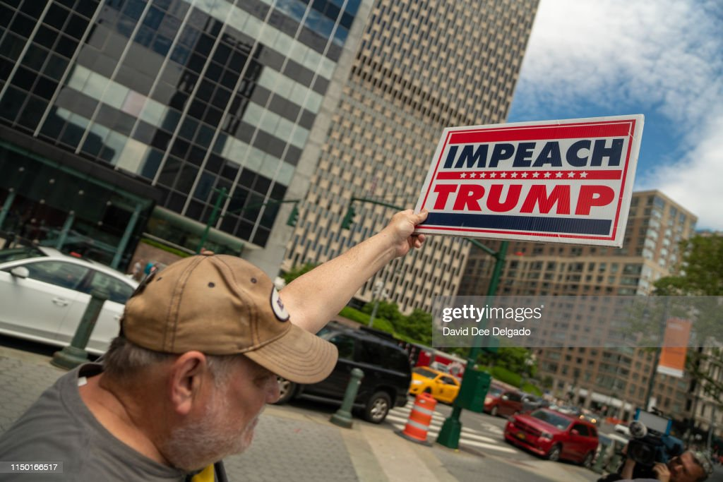 Activists Call For Impeachment Of President Trump In New York City : News Photo