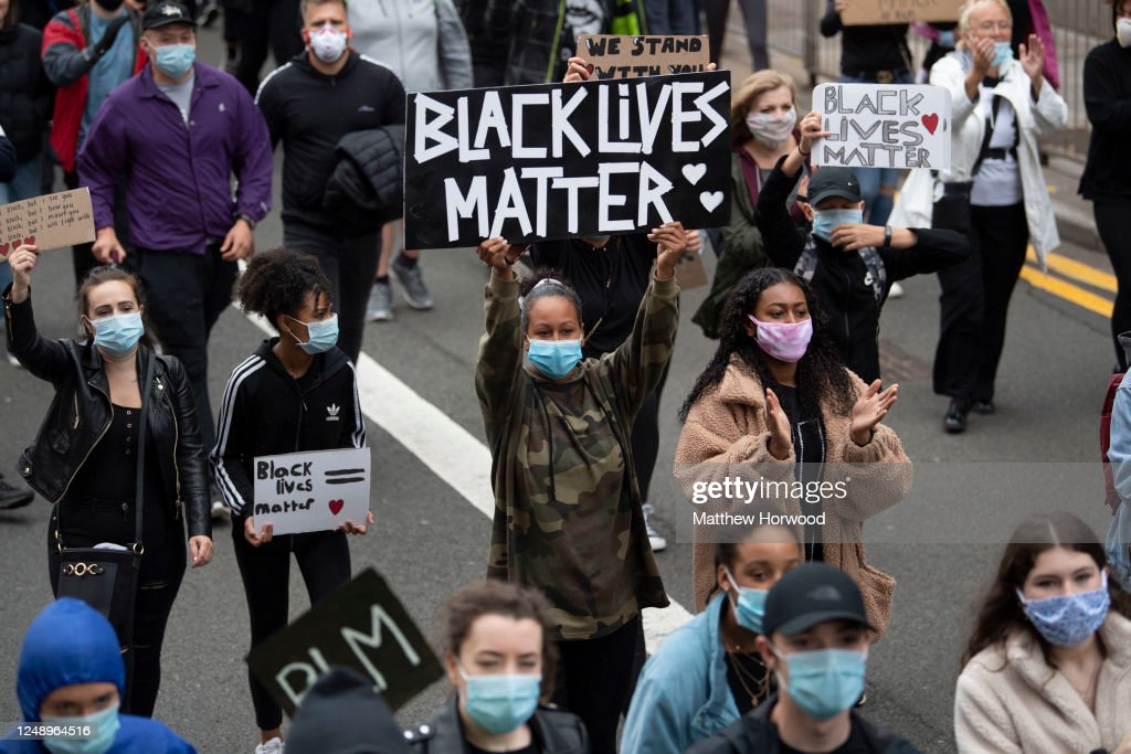 Black Lives Matter Protests Take Place Across The UK : News Photo