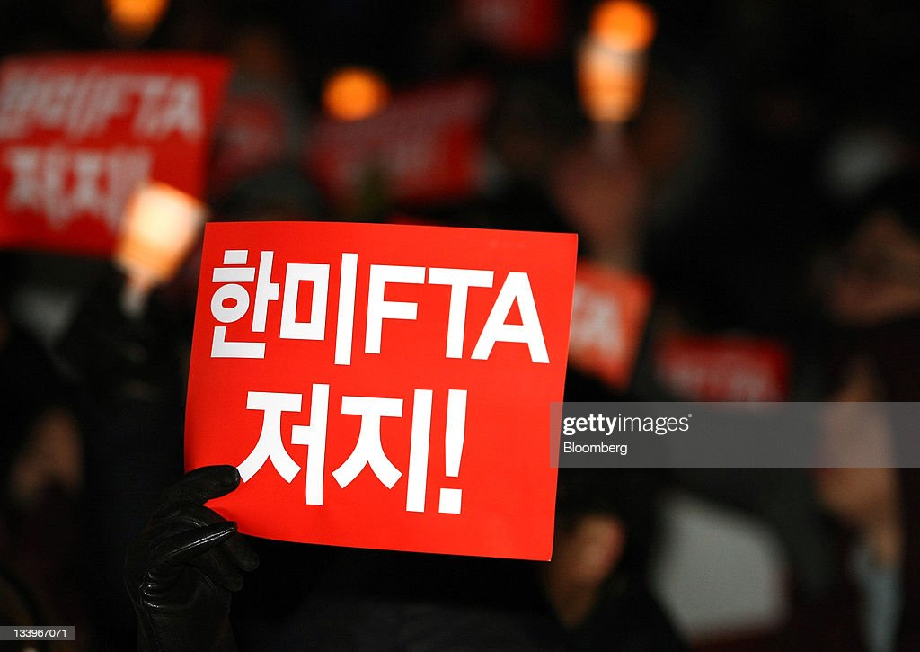 Protest Against The Us South Korea Fta Deal Photos And Images