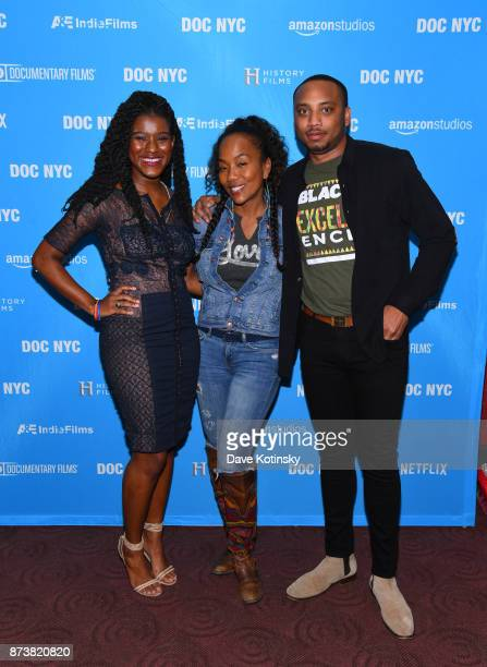 Protestor Makayla GilliamPrice Director Sonja Sohn and Protestor Kwame Rose arrives at the DOC NYC Screening of the HBO Documentary Film BALTIMORE...