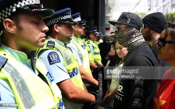 Protestors and police come face to face as protestors close down streets in the city to express their displeasure after the Ministerial...