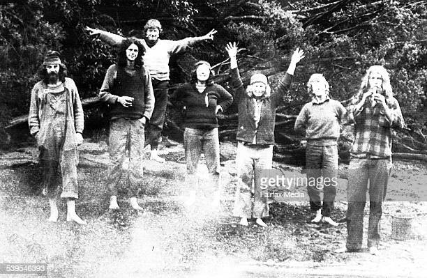 Protestors at the Franklin River in Tasmania celebrate the governments decision to overturn plans to construct a dam 3 July 1983 Fairfax Photo...