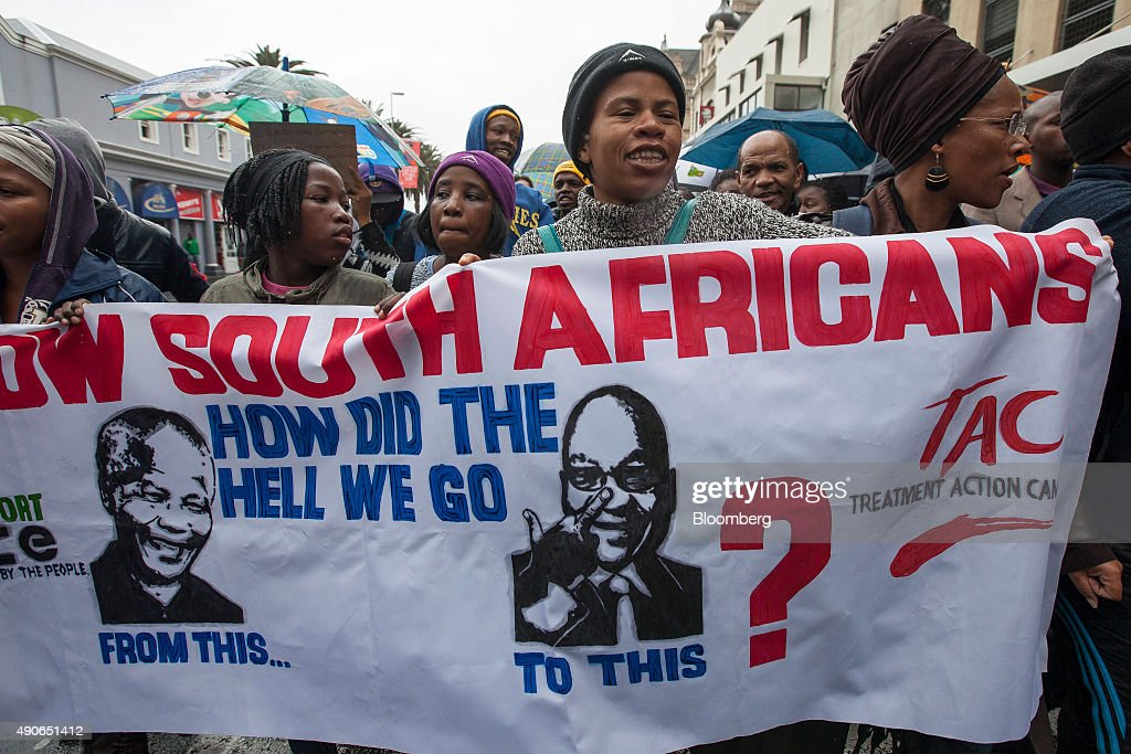 South Africans March Against Corruption : News Photo