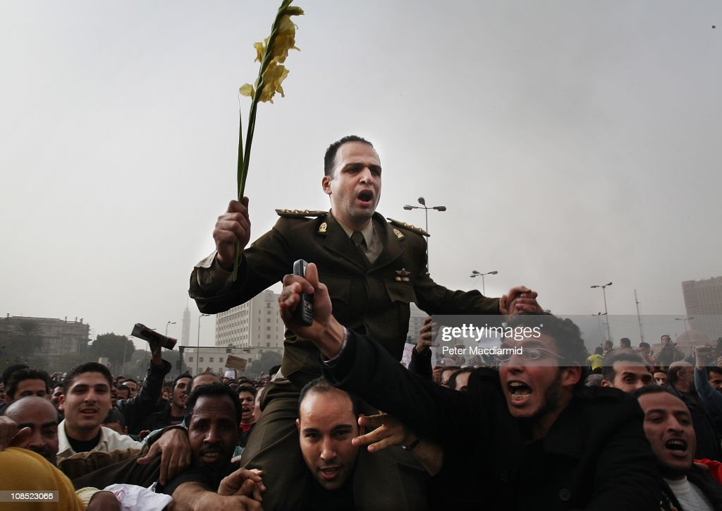 Anti Government Protesters Take To The Streets In Cairo : News Photo