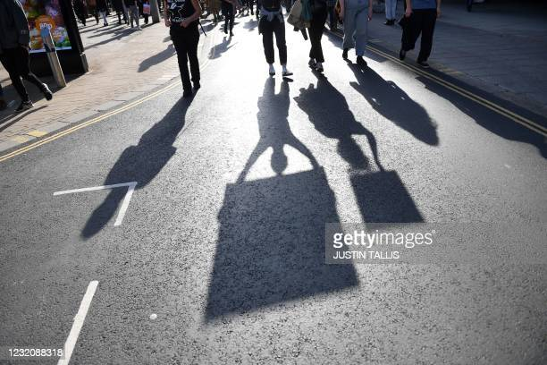 Protestors carry placards as they march during a 'Kill The Bill' protest against the Government's Police, Crime, Sentencing and Courts Bill, in...