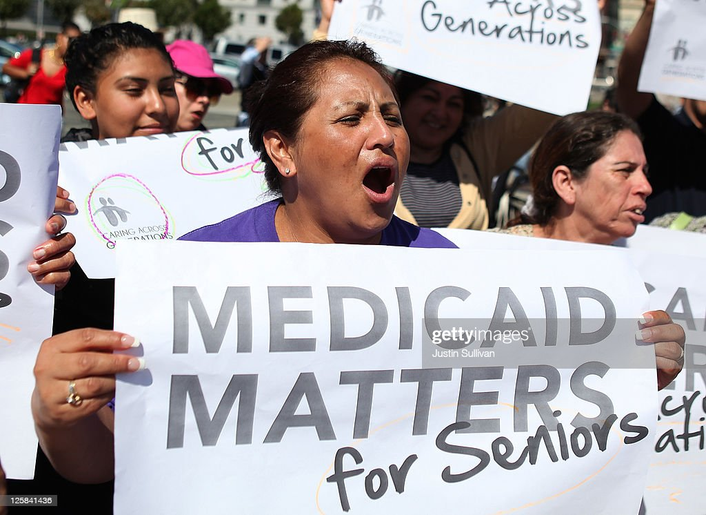Bay Area Activists Protest Cuts To Medicaid : News Photo