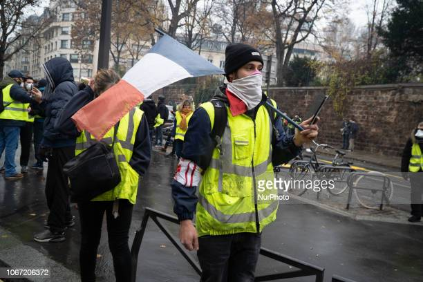 Protestors clash with police in central Paris December 1 2018 The quotYellow Vestquot movement began across France against gas tax hikes proposed by...