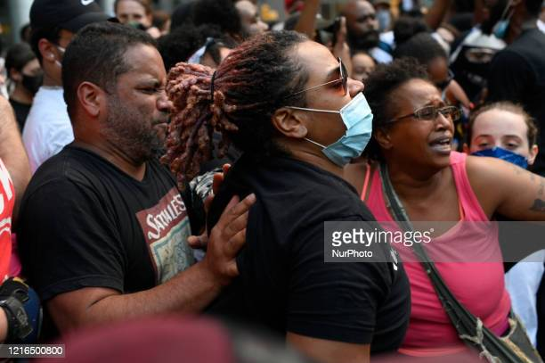 Protestors clash with police near City Hall in Philadelphia PA on May 30 2020 Protestors clash with police in cities around the nation when thousands...