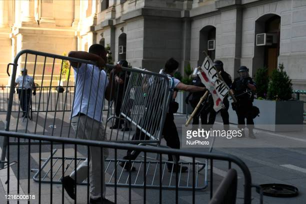 Protestors clash with police near City Hall in Philadelphia PA on May 30 2020 Cities around the nation see thousands take to the streets to protest...