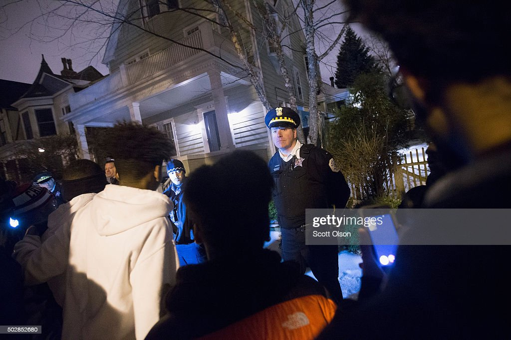 Protesters Rally Outside Home Of Chicago Mayor Rahm Emanuel : News Photo