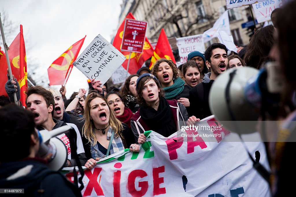 Demonstration To Protest Against Labour Reforms - El Khomeri Law project- In Paris : News Photo