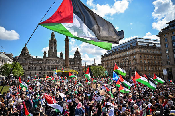 GBR: Palestinian Solidarity Protest In Glasgow