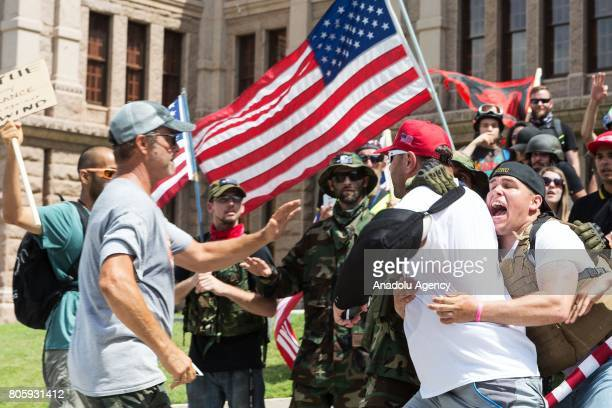 Protestors held a rally at the Texas state Capitol calling for the impeachment of United States President Donald Trump on July 2 2017 Kevin Kamath an...