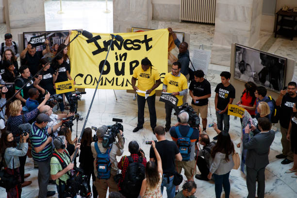 DC: Protestors Rally Against Customs And Border Patrol Funding In U.S. Senate Rotunda