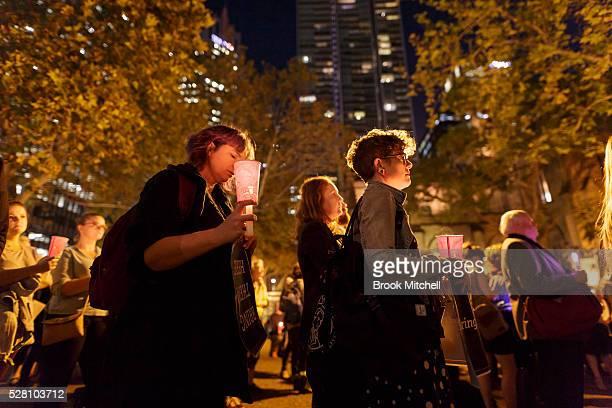 Protestors hold a vigil for Hodan Yasin at Sydney Town Hall on May 4 2016 in Sydney Australia Hodan Yasin a 21yearold Somali refugee is being treated...