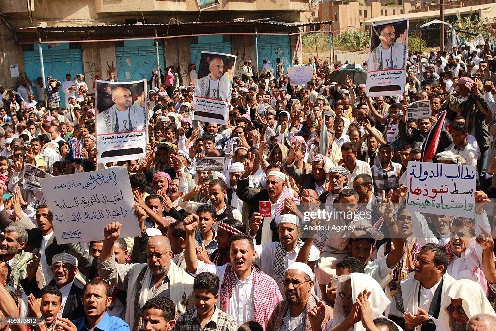 Demonstrations against violence in Yemen : News Photo
