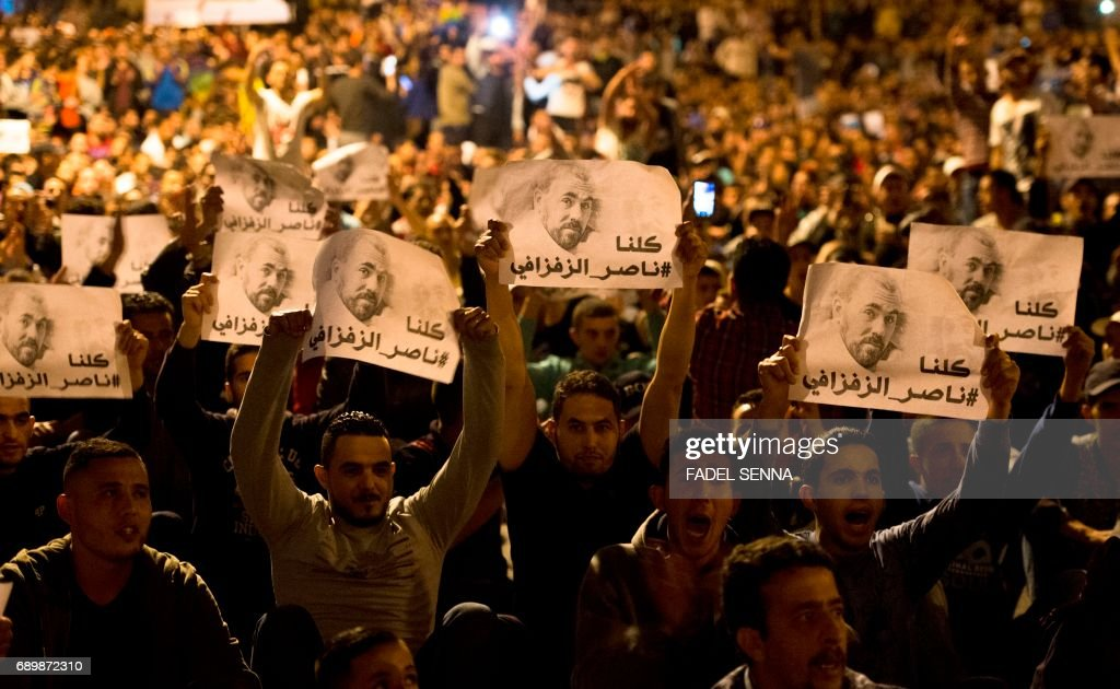 MOROCCO-UNREST-PROTEST : News Photo