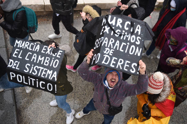 ESP: Anti-Covid Restrictions Protest In Madrid