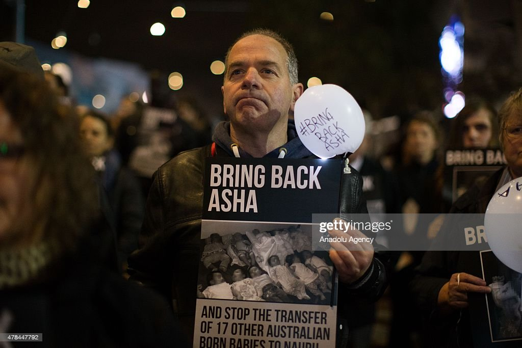 'Bring Back Baby Asha' rally at Federation Square in Melbourne : News Photo