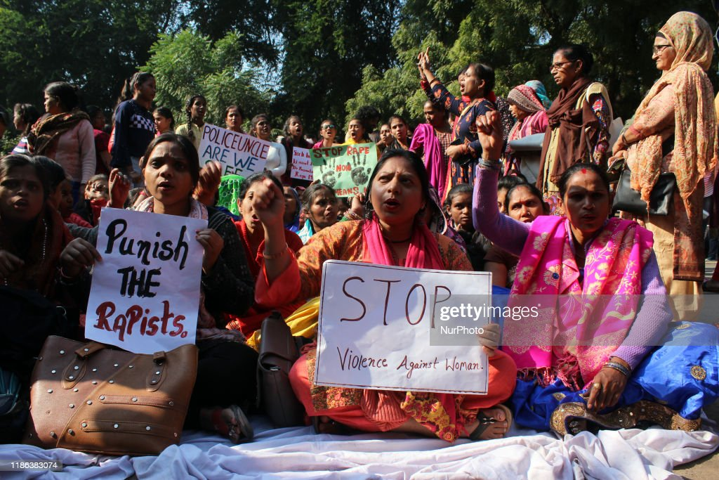 Indefinite Hunger Strike Over Hyderabad Rape-Murder Case : News Photo