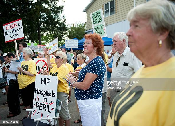 JULY 06 2011 Protestors in a health care rally gathered outside the Greater Niagara General Hospital in Niagara Falls ë¦ one of three area hospitals...
