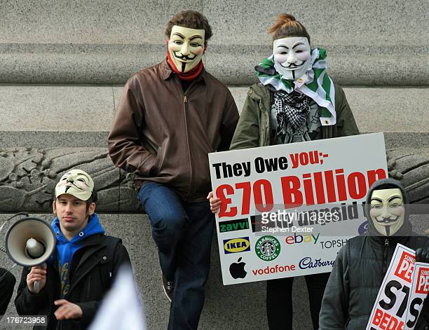 CONTENT] Protestors in Trafalgar Square These demonstrators are protesting against companies that are involved in tax avoidance The main...