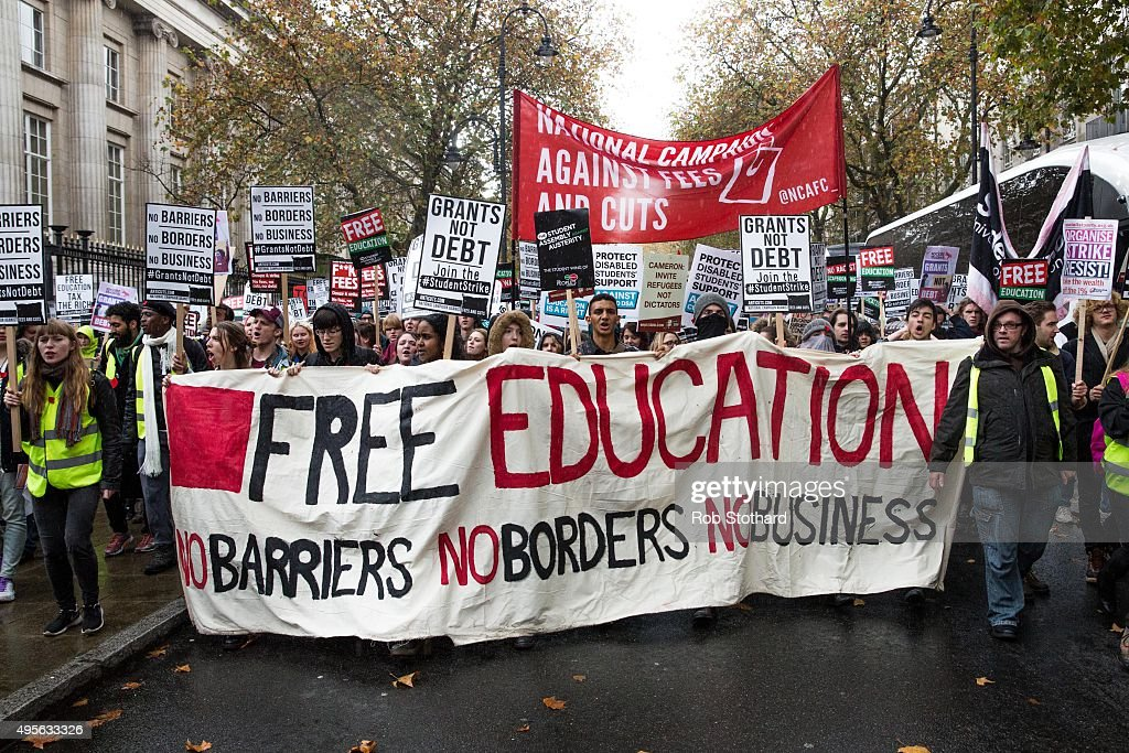 Students Demonstrate In Favour Of Free Education : News Photo