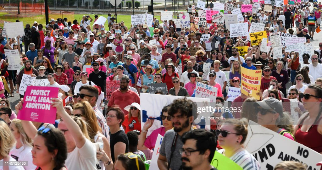 AL: March For Reproductive Freedom Held In Response To New Alabama Abortion Law