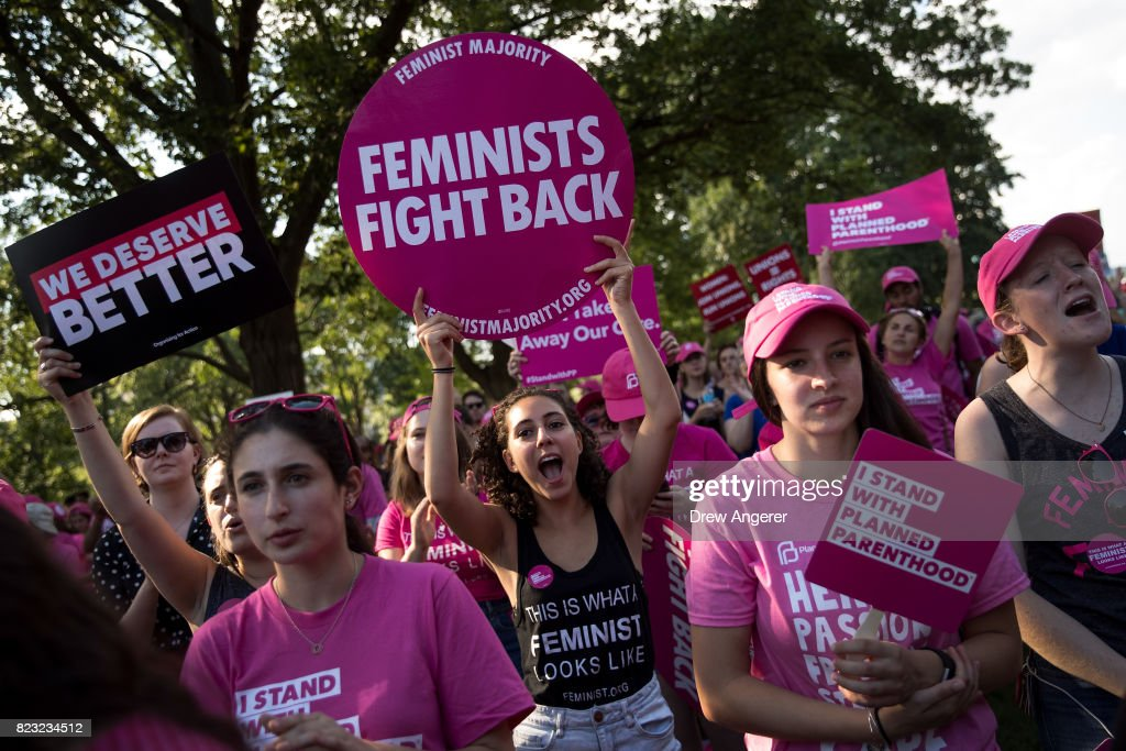 Planned Parenthood And NOW Rally On Capitol Hill Against GOP Health Plan : News Photo