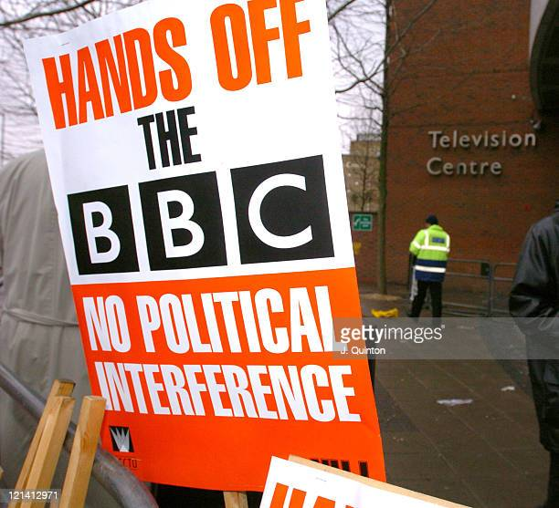 BBC protestors show their feelings as they think the government are interfering too much with matters at the BBC no more so than the recent...