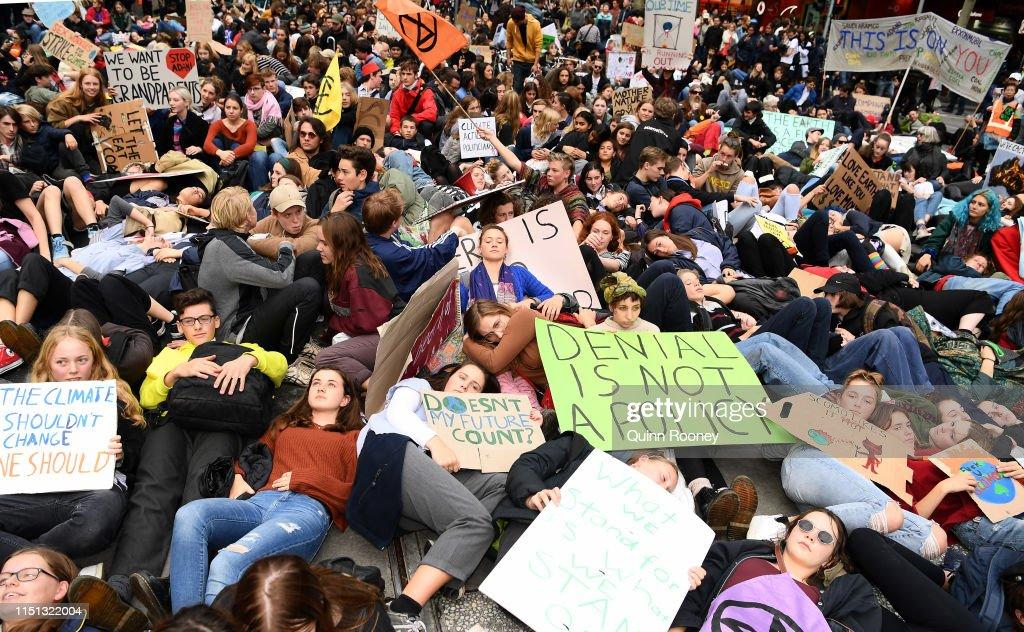 AUS: 'Die In' Protest In Melbourne's CBD
