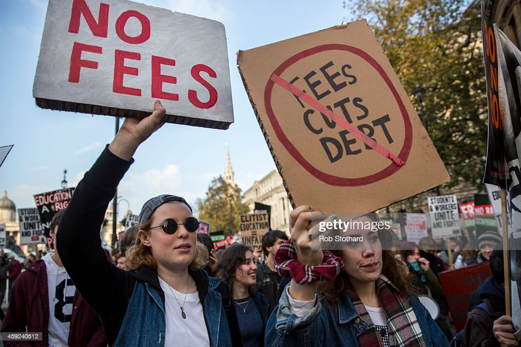 A National Day Of Protest Is Held As Students Demonstrate Over Tuition Fees : News Photo