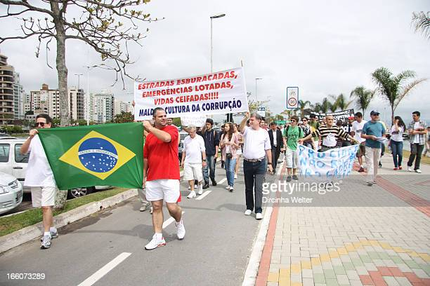Protests against corruption in Brazil.