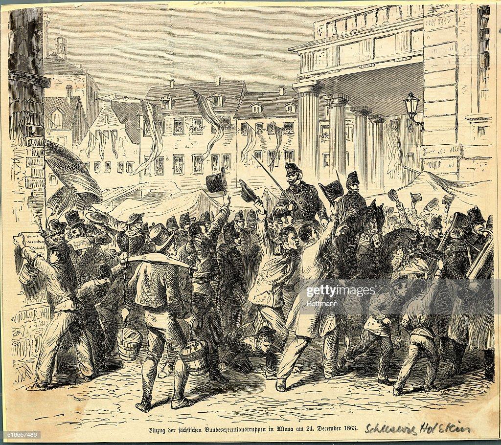 Protests In Schleswig Holstein Prior To German Danish War