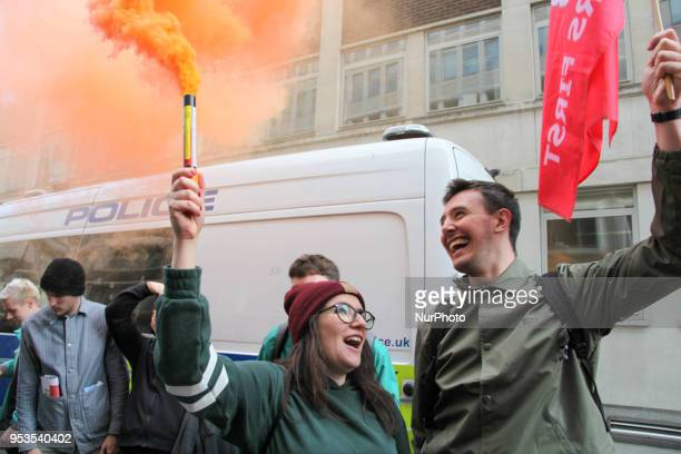 Protests outside Ministry of Justice The International Workers of Great Britain Protested at several areas during Mayday to demonstrate against the...