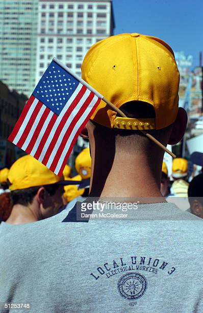 protests rally for causes during rnc convention - republican national convention stock pictures, royalty-free photos & images