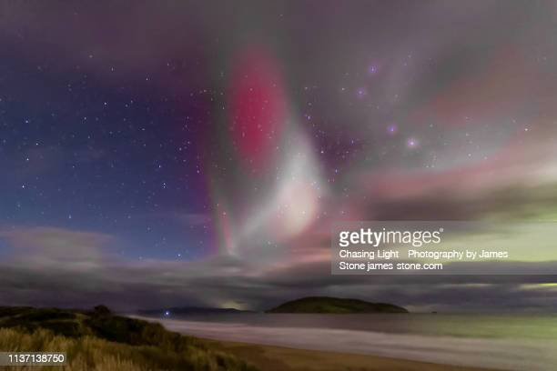 proton arc / sar arc / steve aurora phenomenon - light natural phenomenon stock pictures, royalty-free photos & images