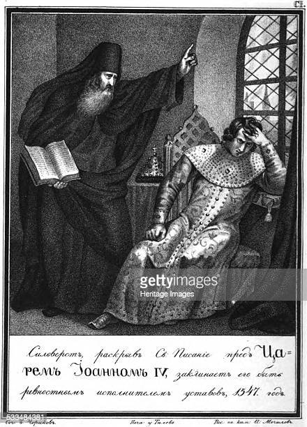 Protopope Silvester before Ivan the Terrible 1547 1836 Found in the collection of Russian State Library Moscow
