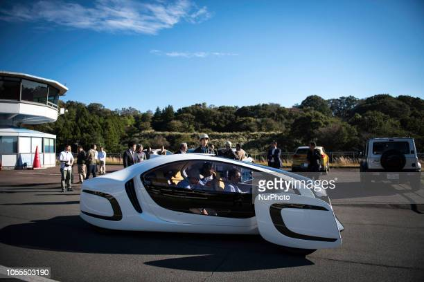 A prototype car using carbon fiber reinforced plastic made it's testing in Japan Cycle Sports Center Shuzenji Shizuoka Prefecture Japan on October 30...