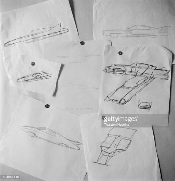 Prototype designs for a new car in Italy 28th September 1956 Original Publication Picture Post 8703 Fashion Kings Of The Car World pub 15th October...