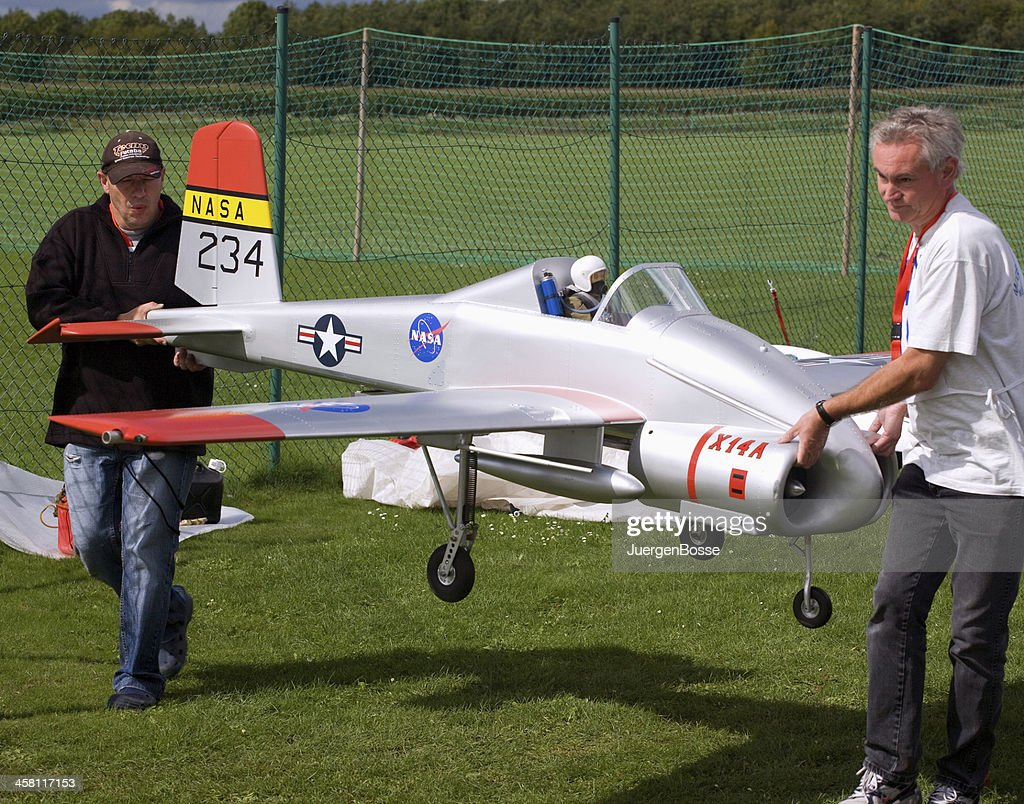 Prototype of  a model aircraft with jet turbine : Stock Photo