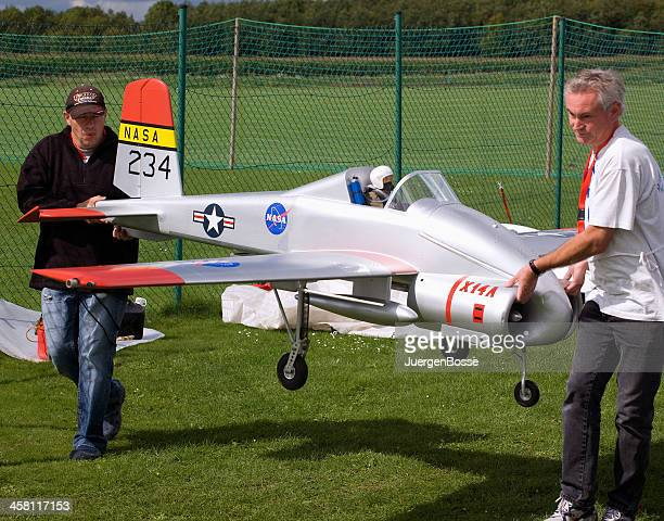prototype of  a model aircraft with jet turbine - remote controlled stock photos and pictures