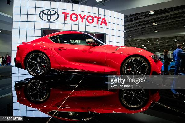 Washington Auto Show 2020.A Prototype Of The 2020 Toyota Gr Supra On Display At The
