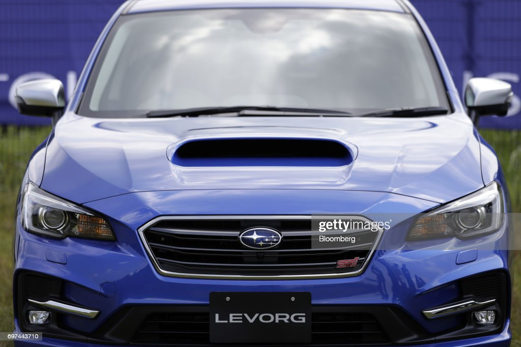 A prototype Subaru Corp. Levorg vehicle equipped with the company's EyeSight driving support system stands on display during a test drive at Japan Automobile Research Institute's (JARI) Shirosato Test Center in Shirosato, Ibaraki, Japan, on Thursday, June 15, 2017. The EyeSight technology warns drivers when there is potential danger and can apply brakes. Photographer: Kiyoshi Ota/Bloomberg via Getty Images