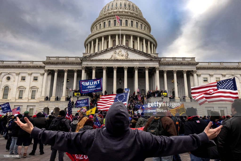 """Trump Supporters Hold """"Stop The Steal"""" Rally In DC Amid Ratification Of Presidential Election : News Photo"""