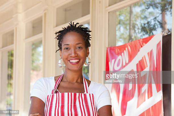 proud african american small business owner - opening ceremony stock pictures, royalty-free photos & images